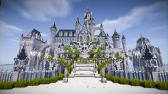 【Minecraft】Efelheim -Castle of the Holy Spirit- Minecraft Blueprints, Minecraft Designs, Minecraft Creations, Minecraft Ideas, Minecraft City Buildings, Minecraft Architecture, Minecraft Houses, Minecraft Bridges, Minecraft Medieval Castle