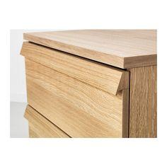 OPPLAND Chest of 2 drawers, oak veneer oak veneer 60x57 cm