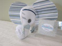 Eloria the Elephant, Stuffed Animal, Stuffie, Pillow, Room Decor, One-of-a-kind, Handmade. $25.00, via Etsy.