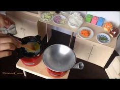 Miniature Cooking Ep. 9 Tiny Fried Rice with Vegetables & Egg (cooking mini food) チャーハン 볶음밥 - YouTube