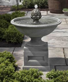 Despite standing less than three feet tall, the Williamsburg Chiswell Garden Water Fountain creates a lasting impact with its elegant design and dynamic water imagery. It features a pineapple shaped f