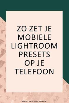 Heb je mobiele Lightroom presets gekocht en wil je die installeren op je telefoon? In dit artikel leg ik uit hoe je Lightroom presets op je mobiel zet.