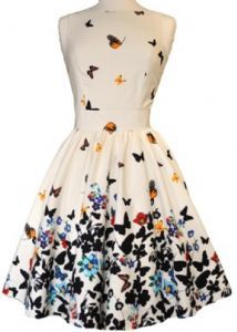 White butterfly dress