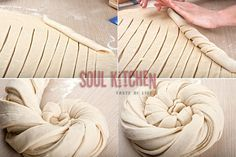 Twisted snail buns - Soul Kitchen Pain Pizza, Bread Recipes, Cooking Recipes, Bread Shaping, Bread Art, Braided Bread, Cooking Bread, Our Daily Bread, Bread And Pastries