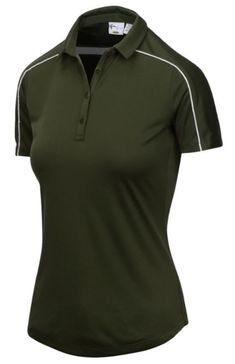 Need new golf apparel? Greg Norman takes pride in offering women's golf clothing for all shapes and sizes. Buy this VICTORY ROSE (Loden) Greg Norman Ladies & Plus Size ML75 Pride Short Sleeve Golf Polo Shirt today from Lori's Golf Shoppe!