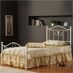 Looking for Hillsdale Furniture Westfield Metal Bed Set Rails, Full, Off White ? Check out our picks for the Hillsdale Furniture Westfield Metal Bed Set Rails, Full, Off White from the popular stores - all in one. Twin Canopy Bed, Metal Canopy Bed, Metal Beds, White Canopy, Twin Beds, Full Headboard, Headboard And Footboard, Headboards, Hillsdale Furniture