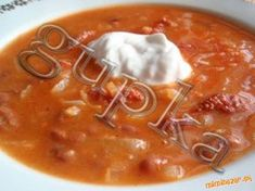 mňamková fazuľovo - kapustová polievka