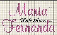 C2c Crochet, Cross Stitch, Math, Creative, Disney, Cross Stitch Font, Cross Stitch Baby, Children Names, Female Names