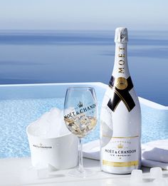 Champagne with a twist! This Moet Imperial bottle is meant to be served over ice! The perfect way to cool down on the water.