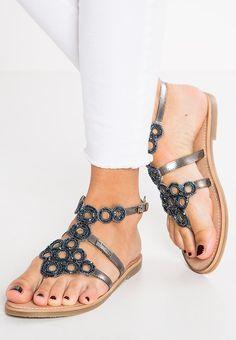 70a90e0eb7617c Les Tropéziennes par M Belarbi OFELIE - Sandales - etain - ZALANDO.FR  Tropezienne Chaussure