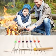camping, tourism, hike, family and people concept - happy father and son roasting marshmallow over campfire - stock photo National Park Lodges, National Parks, Mount Rainier Camping, Summer Activities, Outdoor Activities, Fire Pit Accessories, Rainier National Park, River Park, Going On A Trip