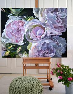 Spray-roses-on-easel.JPG (700×900) Jenny Fusca