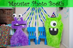 Monster Photo Booth Tutorial - So fun for a child's monster birthday party!