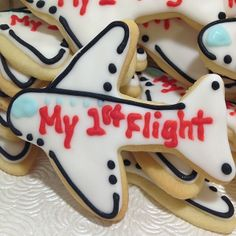 Traveling with the little one soon? These cute airplane cookies from The Cookie Girl are the perfect way to butter up your flight crew and surrounding passengers! Not your first flight? That's OK. No one needs to know that you already know how it's going to end! www.TheCookieGirlStore.com Orders@TheCookieGirlStore.com 832-360-8101 #cookies #plane #airplane #travel #bribery #briberyworks #flying #babies #firstflight