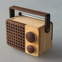 MINI Wooden Radio by Wooden Radio | MONOQI  If it has an audio jack to hook speakers up, i love it.