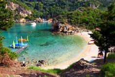 I will vacation at Paleokastritsa Beach, on the island of Corfu, Greece Most Beautiful Beaches, Beautiful Places, Corfu Beaches, Places To Travel, Places To See, Best Beaches In Europe, Corfu Island, Corfu Greece, Greece Islands