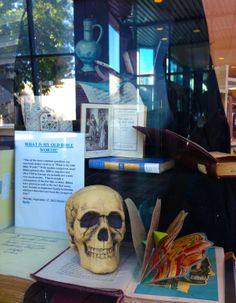 Items from our Special Collections. 10/13. Display: Elvira Baker. Photo: Sylvia Frost