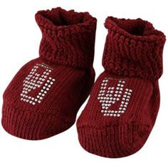 Crimson Two Feet Ahead NCAA Oklahoma Sooners Infant Gift Box Booties One Size