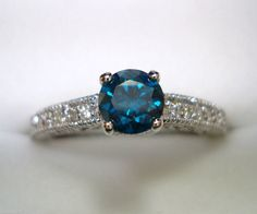 I would Love a blue diamond for my engagement ring!