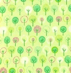 Wildwood Trees Forest  in Lime by Erin MacMorris for by tisSEWcute, $8.00
