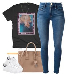 """""""This my second account!!! @kahla-robyn"""" by vxcvii ❤ liked on Polyvore featuring Yves Saint Laurent, Frame Denim, Topshop, adidas and Wanderlust + Co"""