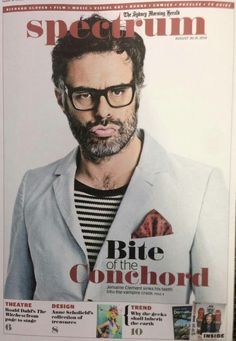 Jemaine Clement on the cover of Australian 'Spectrum' magazine. Bret Mckenzie, Jemaine Clement, Flight Of The Conchords, Taika Waititi, Ambulance, Vampires, Spectrum, Design Trends, Beautiful People