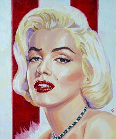 Portrait of Marilyn Monroe by Vasilina on Stars Portraits, the biggest online gallery for celebrity portraits. Patrick Willis, Marilyn Monroe Art, Some Like It Hot, Celebrity Portraits, Oil Painting On Canvas, Art Boards, Vintage Photos, Fine Art, Art Prints