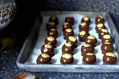 homemade peanut butter + chocolate confections from smitten kitchen. need i say more?