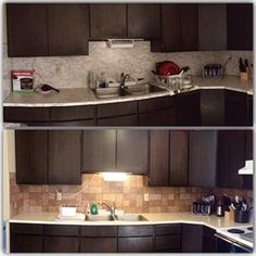 Self-adhesive tiles can change the look of your entire kitchen. | 23 Cleverly Creative Ways To Decorate Your Rented Apartment
