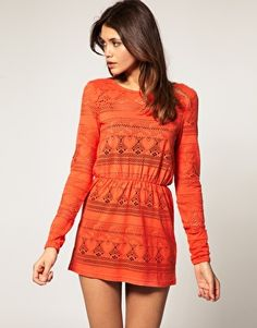 Great color! Throw on a mini skirt and your set!