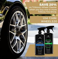 Tire Shine Spray No Wipe - Automotive Clear Coat Dressing for Wet & Slick Finish Best Tire Shine, Best Tyres, Look Good Feel Good, One With Nature, Good Things, Dressing, Coloring Books, Diving