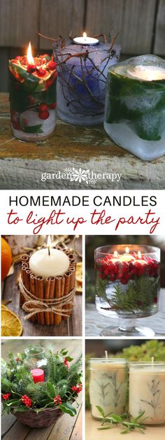 winter candle projects - Lighting candles is a surefire way to brighten up the winter and bring a feeling of warmth and cheer to your home. Whether you want to liven up your own space or you're looking for something crafty to give away as a gift, there is a ton of great candle projects to choose from.