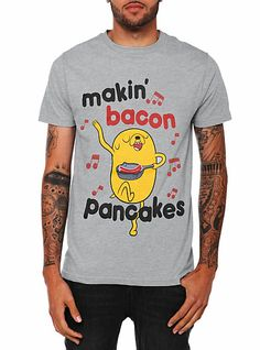 Adventure Time Bacon Pancakes T-Shirt - 349953 from Hot Topic. Cartoon Network, Adveture Time, Pancakes And Bacon, Jake The Dogs, Shirt Outfit, T Shirt, Swagg, Hot Topic, Pop Culture