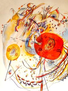 Pintura de Kandinsky Kandinsky Art, Wassily Kandinsky Paintings, Learn Art, Naive Art, Impressionism, Art Tutorials, Abstract Art, Abstract Landscape, Landscape Paintings