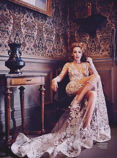 Vogue Australia May 2014 - The Divine Miss M.: Kylie Minogue by Will Davidson - Zuhair Murad