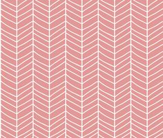 Chevron pink fabric by bluelela on Spoonflower - custom fabric