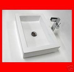 Porcelain Ceramic Artistic Bathroom Basin Vessel Sink Vanity Bowl BVC007