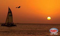 Key West sunset and Fury catamaran #keywest #sunset #furykeywest
