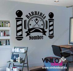 Vinilo decorativo para barberías,VINILO DECORATIVO,autoadhesivos,pegatinas pare. Barber King, Barber Logo, Barbershop Design, Barber Supplies, Beauty Spa, Salon Design, Wall Decal Sticker, Shop Signs, Sticker Design