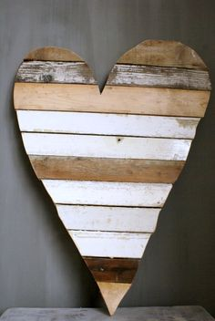 Heart Made out of Scrap Wood...Cute!