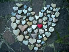 Yours is not as large a this but I still have all your heart shaped rocks.