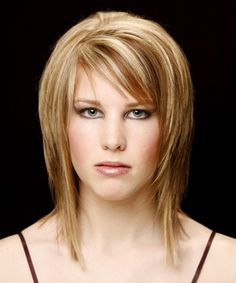 short hairstyles for fine straight hair and oblong face.