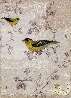 Ruth Blackford , SISKIN.  Embroidery.