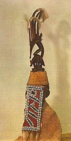 "Africa | Bambara Headdress from Mali. | Image scanned from the publication ""Afrikanische Kunst"" Dirnitri Olderogge, The African collection of Leningrad, Artia, 1969."