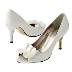 Brides.com: 47 Wedding Shoes We Can't Live Without The New WhitePeep-toe heels, $33, Apt. 9, available at Kohl's