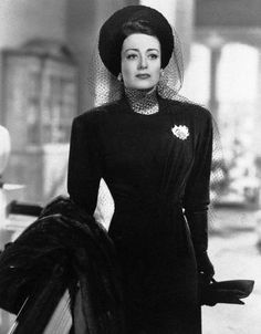 """Actress Joan Crawford, one the last of Hollywood's glamour queens whose career stretched back to the golden days of silent films, is shown in a 1945 scene in the movie """"Mildred Pierce,"""" for which she won a """"best actress"""" Academy Award. Vintage Hollywood, Old Hollywood Glamour, Hollywood Stars, Classic Hollywood, Hollywood Divas, Vintage Glam, Vintage Dress, Vintage Style, Joan Crawford Mommy Dearest"""