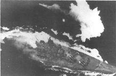 yamato battleship   The Japanese battleship Yamato under attack by U.S. Navy planes in the ...