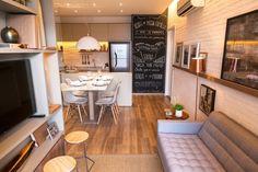 Sala e cozinha integradas! Saiba como se sair bem na integração desses ambientes em poucos metros quadrados.