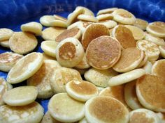 Baby cereal pancakes! 1egg 1 cup white flower or wheat flower 1/2 cup baby cereal ( I used multigrain but oatmeal or barley would work fine) 1tablespoon oil 2 teaspoons brown sugar 1 1/2 teaspoons baking powder 1tsp cinnamon 1 cap full of vanilla 1-2 tablespoons baby food (I used sweet potato but you could use any fruit or vegetable) 1 cup 100% juice (I used apple) Add water until you reach desired consistency.