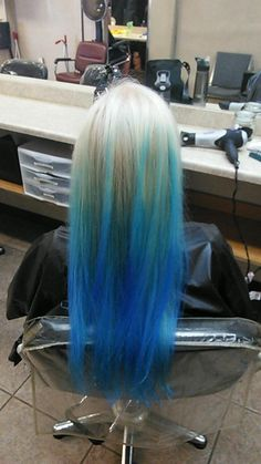 Ombré blue turquoise. My mermaid hair